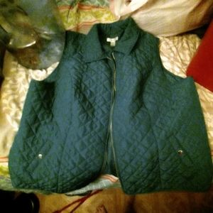 Zipper vest.  Sorry for lousy pictures.